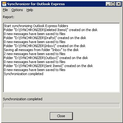 Click to view Synchronizer for Outlook Express screenshots